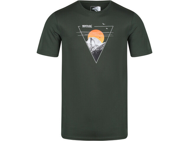 Regatta Fingal V Camiseta Hombre, verde